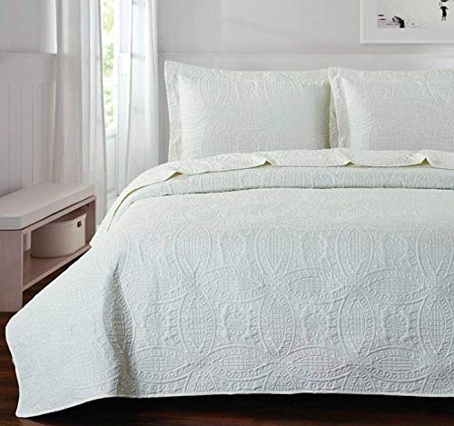 Orient Home Collection De Moocci Pinsonic Coverlet Sets-Chinese Coin Design-Classic Pinsonic Stitching Front and Back