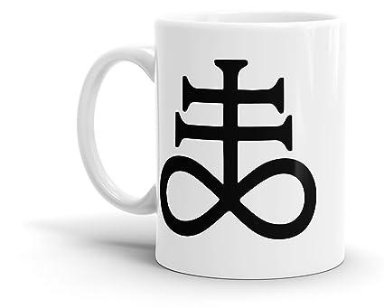 Amazon Satanic Cross Occult Coffee Mug 11 Oz Kitchen Dining