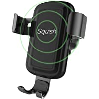 Squish Wireless Charger Car Mount Adjustable Gravity Air Vent Phone Holder for iPhone Samsung Nexus Moto OnePlus HTC Sony Nokia and Android Smartphones