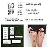 Tattify Motivational Temporary Tattoos - Youthful Exuberance (Complete Set of 12 Tattoos - 2 of each Style) - Individual Styles Available and Fashionable Temporary Tattoos