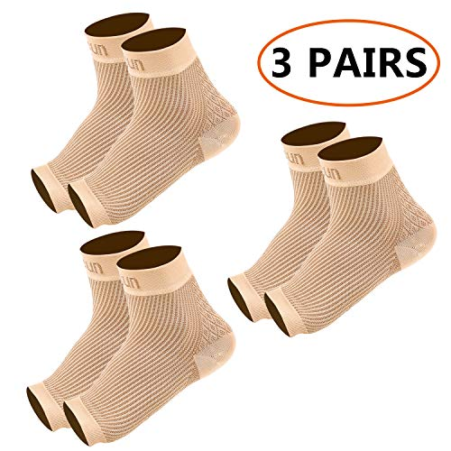 REFUN Compression Socks for Women & Men (2 Pairs), Best Graduated Compression Sock for Running, Travel, Edema, Varicose Veins, 15-20 mmHg