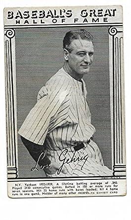 Amazoncom 1948 Baseball Hall Of Fame Exhibit Card Of Lou