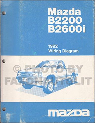 1992 Mazda B2200 B2600i Pickup Truck Wiring Diagram Manual Original