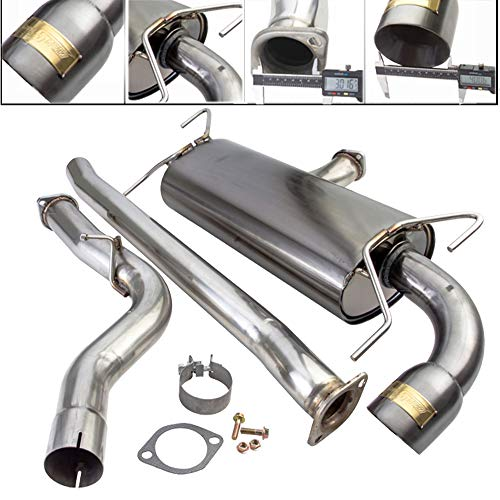 Fit 2008-2014 Subaru WRX (Wagon/Hatchback Model Only) 3 Inch Stainless Steel Catback Exhaust System 4 Inch Gun Metal Muffler - Hatchback System