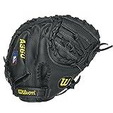 Wilson A360 Baseball Catcher's Mitt, Grey/Black/White, 31.5-Inch