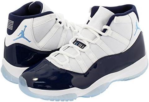 white navy jordan 11