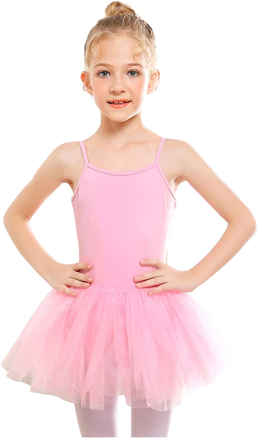 Girls Ballet Dress Dance Tutu Dress Pink Red White Blue 3 4 5 6 7 8 Years