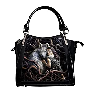 Soul Bond 3D Large Handbag ANNE STOKES Goth Wolf Princess