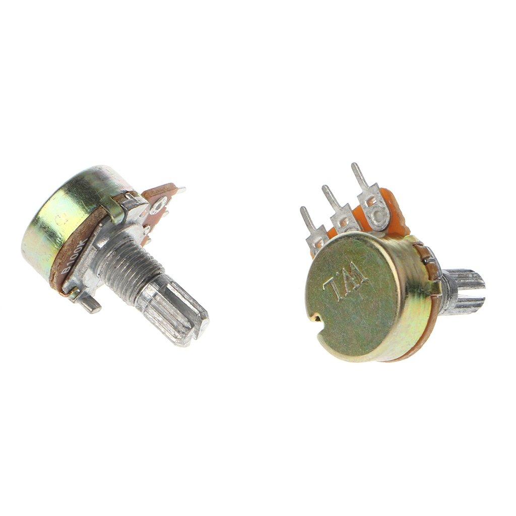 JimTw-UK 10 Pcs WH148 Single Linear Potentiometer Set B1K 2K 5K 10K 20K 50K 100K 250K 500K 1M