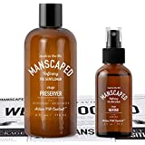 Manscaped Hygiene Bundle, Men's Groin Protection, Includes: Crop Preserver Ball Deodorant with Active pH Control and Crop Reviver Spray on Body Toner, plus FREE Disposable Magic Mat Shaving Mats