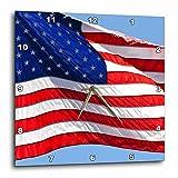 Cheap 3dRose dpp_53611_2 American Flag USA Patriotic Americana Wall Clock, 13 by 13″