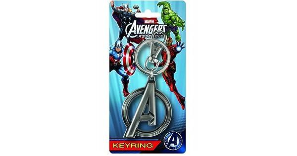 Amazon.com: Los Vengadores de Marvel un Logo Pewter Llavero ...