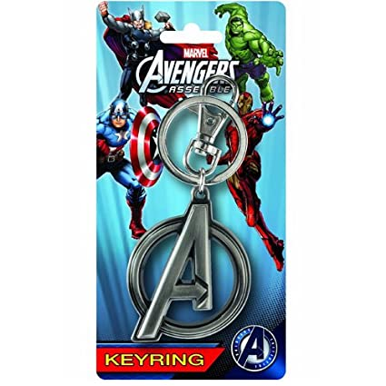 Marvel Avengers A Logo Pewter Key Ring