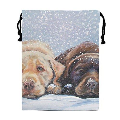 Labrador Retriever Dog Drawstring Tote Bag Travel Shoulder Daypack Portable Handbag (Labrador Retriever Stationery)