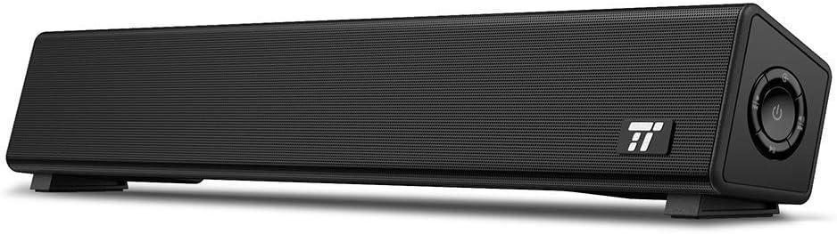 Computer Speakers, TaoTronics Bluetooth 4.2 Computer SoundBar, Two 5W Full Range Speakers, Wired/Wireless Mini Soundbar for PC Cellphone Tablets Desktop Laptop (Renewed)