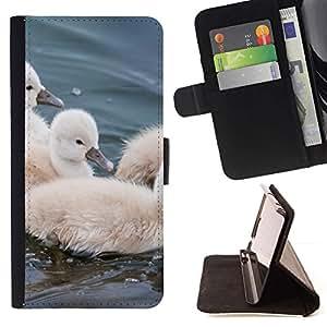 For Samsung Galaxy S6 EDGE (NOT S6) Plus / S6 Edge+ G928 Case , Peludo lindo Pequeño pájaro del animal doméstico Animal- la tarjeta de Crédito Slots PU Funda de cuero Monedero caso cubierta de piel