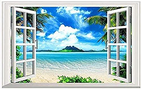 Djskhf カスタムフリース夏のビーチテレビの背景の壁の家の装飾3D Hd壁画リビングルームの壁紙 120X60Cm
