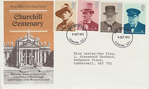 100th Anniversary Of The Birth Of Sir Winston Churchill At Blenheim Palace 1874 FDC (Coin Churchill Commemorative)