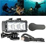 30m Underwater Waterproof LED Dive Light With AHDBT-201 301 Battery For Xiaomi Yi GoPro Hero 2 4 3+ 3 SJ4000 SJCAM