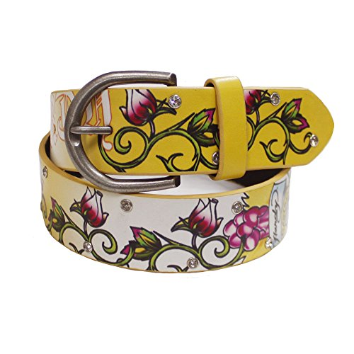 Ed Hardy By Christian Audiger Manmade Leather Belt, Yellow, - Hardy Leather Ed