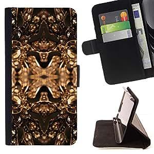 Momo Phone Case / Flip Funda de Cuero Case Cover - Cobre Bling de oro Joyas Brillantes Dise?o - Sony Xperia Z5 Compact Z5 Mini (Not for Normal Z5)