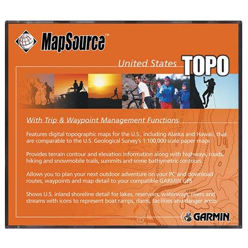 Garmin MapSource TOPO! 2006 U.S. Map CD-ROM (Windows) -