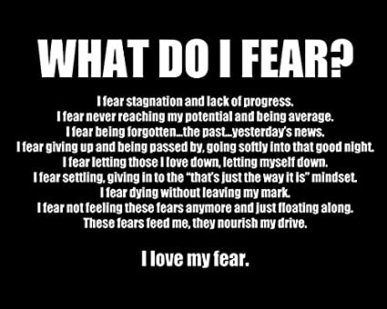 WeSellPhotos What Do I Fear Motivational Inspirational Quotes Poster Photo  Picture Framed Wall Art Print for Players Coach Trainers Motivators Office  ...