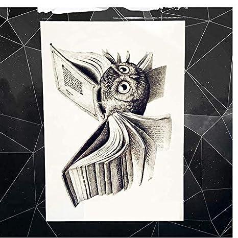 ruofengpuzi Adesivo tatuaggioMagia Búho Harry Potter Libro ...