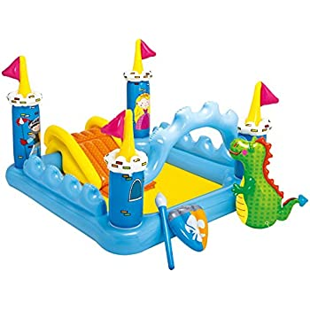 "Intex Fantasy Castle Inflatable Play Center, 73"" X 60"" X 42"", for Ages 2+"