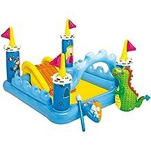 [Patrocinado] Centro de juegos inflable castillo de fantasía Intex, 73 x 60 x 42 pulgadas, para 2 años en adelante