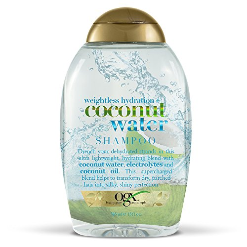OGX Weightless Hydration Coconut Water Shampoo, (1) 13 Ounce Bottle, Paraben Free, Sustainable Ingredients, Lightweight and Hydrating and Shining with Electrolytes
