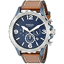 Fossil Men's JR1504 Nate Chronograph Brown Leather Watch