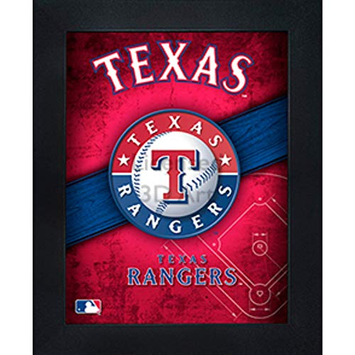 (Texas Rangers 3D Poster Wall Art Decor Framed Print | 14.5x18.5 | Lenticular Posters & Pictures | Memorabilia Gifts for Guys & Girls Bedroom | MLB Baseball Sports Team Fan Poster for Man Cave)