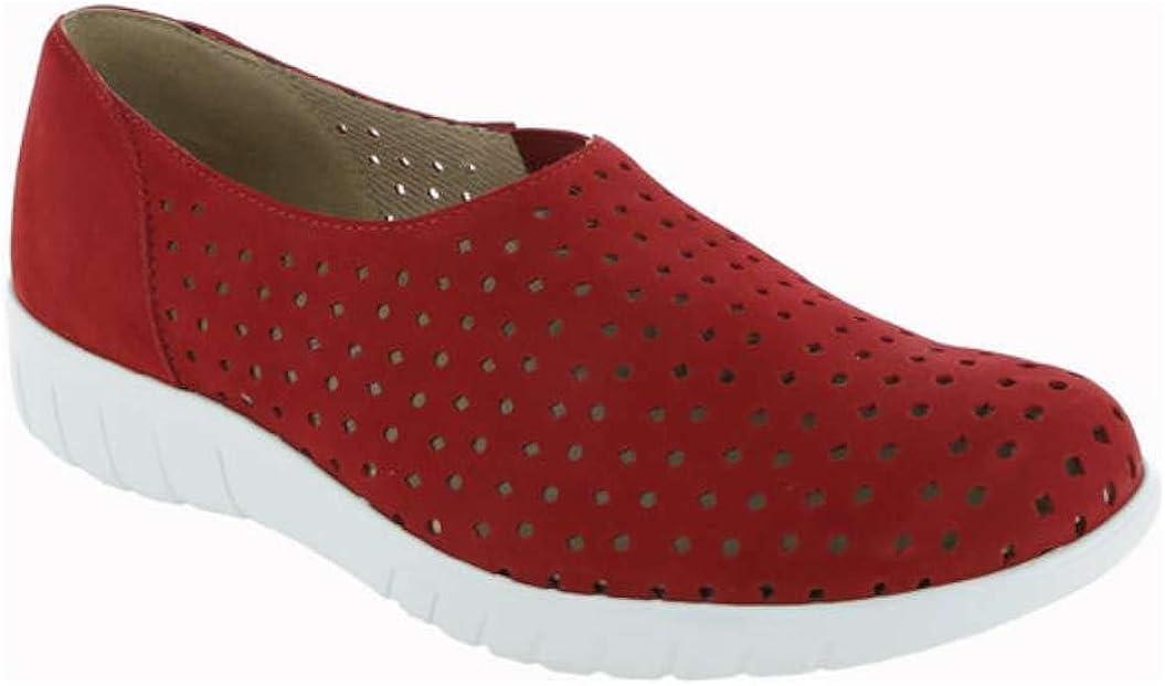 Munro Womens Skipper Low Top Slip On Fashion Sneakers Red Nubuck