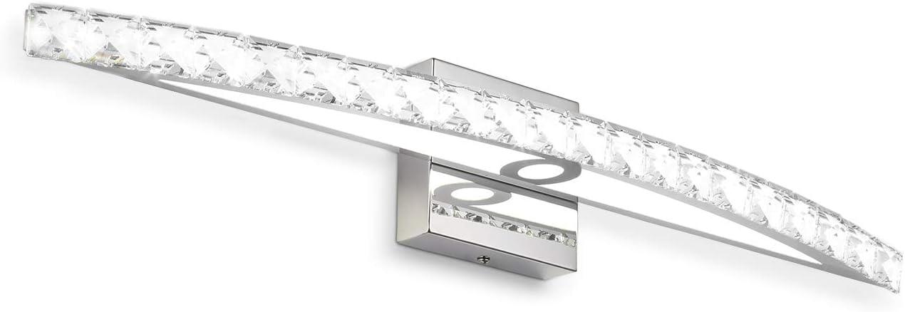 Vanity Light 27 56 In 18w 6000k Led Vanity Light Crystal Light Fixture Amazon Co Uk Lighting