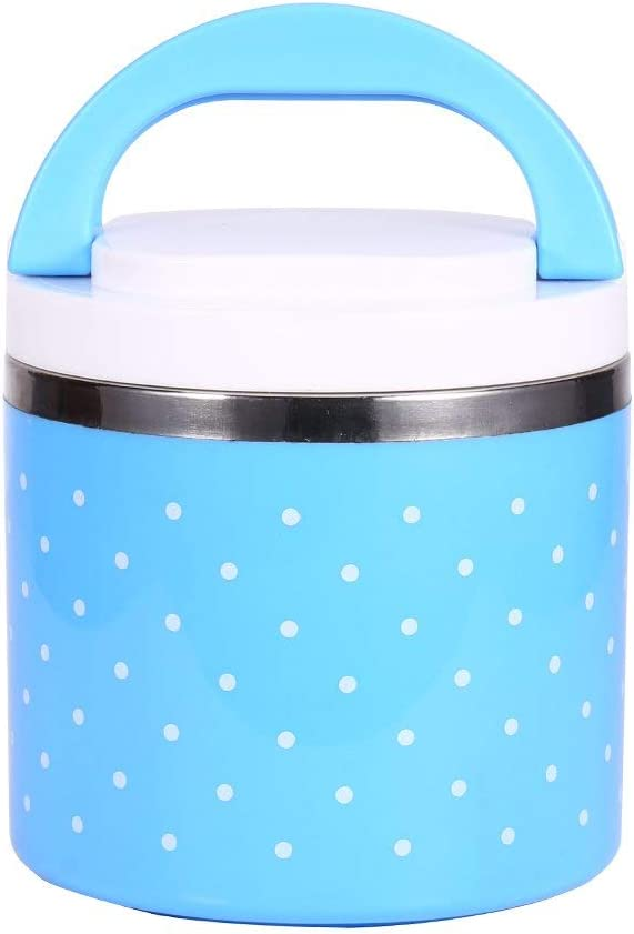 Lunch Box Stainless Steel Insulation Thermo Thermal Lunch Box Food Container Hot 600ml Blue