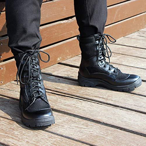 All'aperto Maglia Stivali da di Uomo Alta Trekking Forze Stivali Black Estiva Pelle Speciali Stivali Traspirante Militare Sand Leggero Tattico zaAwzqSx4