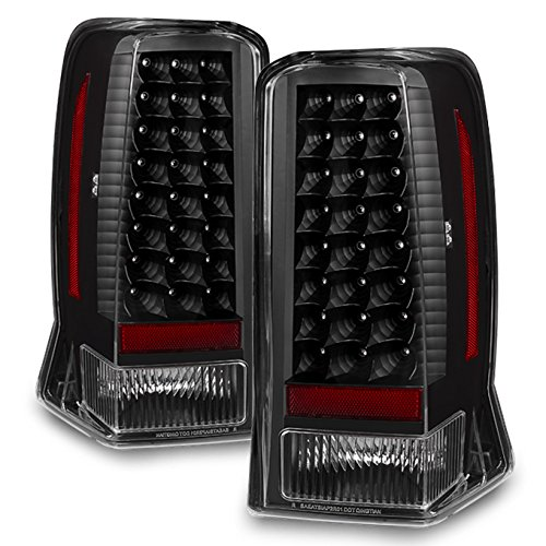 Black 02-06 Cadillac Escalade 03-06 Escalade ESV Rear LED Tail Lights Brake Lamps Replacement