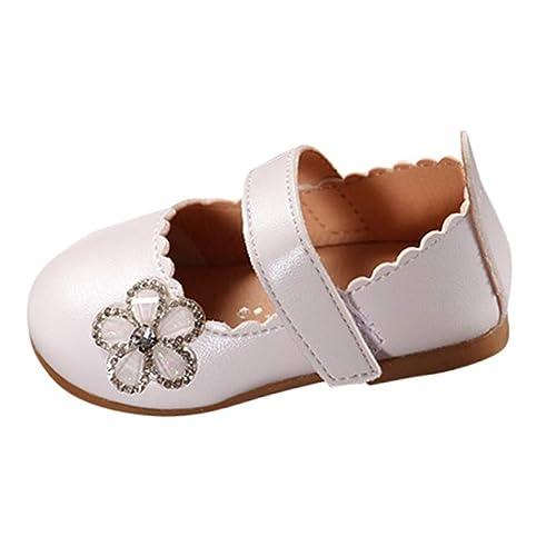 Topgrowth Scarpe Scarpe Bambina Eleganti Principessa Antiscivolo Sneaker  Ragazza Neonata Carina Scarpe da Ornamento Floreale Casual b555f25c9bc