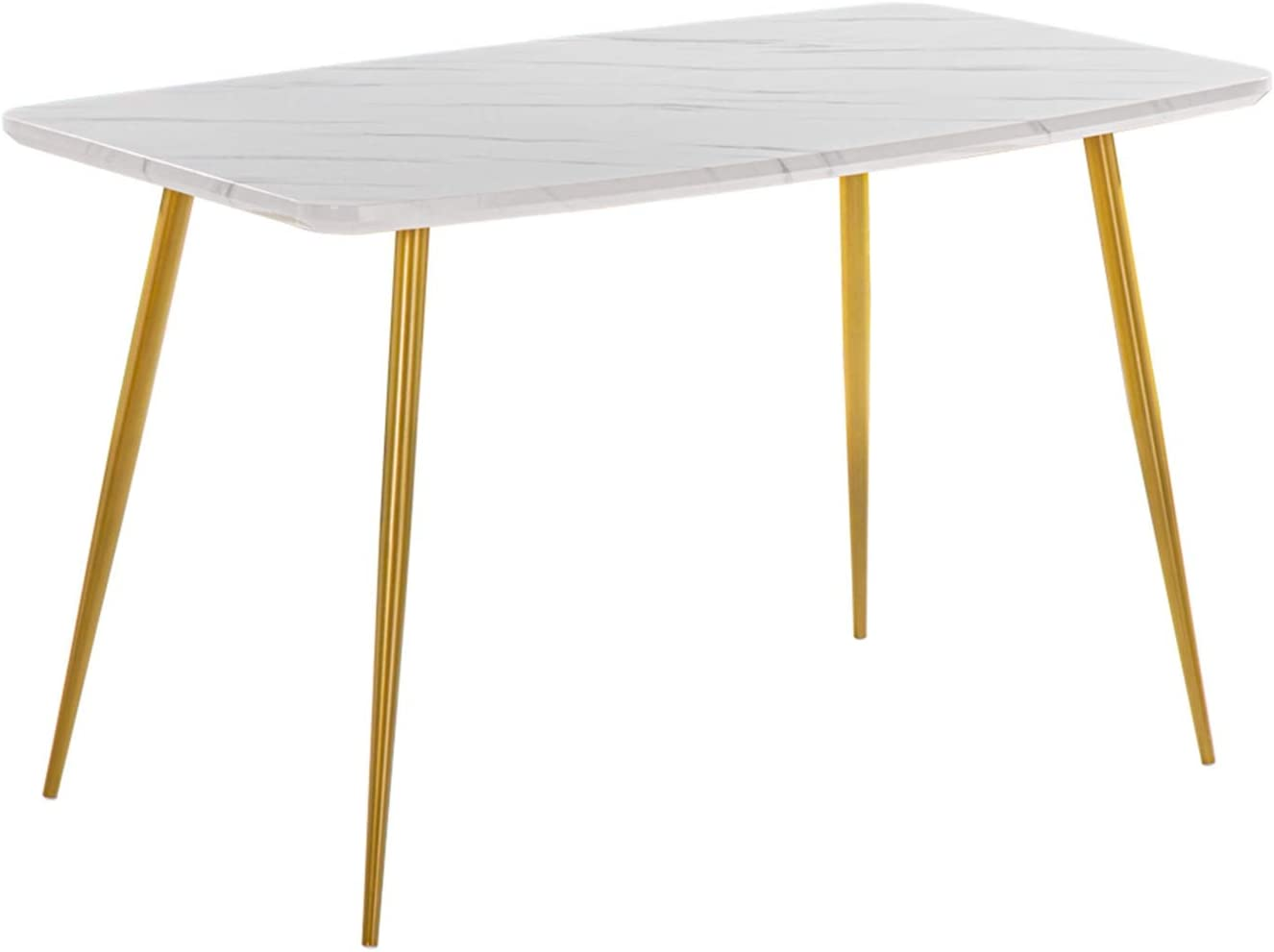 Marble Dining Table 120x74x76cm White Dining Table Coffee Table Modern Tea Kitchen Table Bar Table