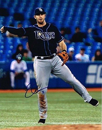 Signed Evan Longoria Photograph - 11X14 W COA - Autographed MLB Photos