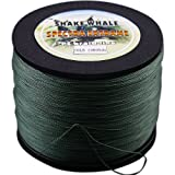 Shake Whale 100-Percent PE Good Quality Briad Braided Fishing Line Green 50LB 1000Yds Yards Review