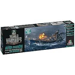 Italeri 46502 World of Warships WoWS IJN Atago Plastic Model Kit, 1:700 Scale from Italeri