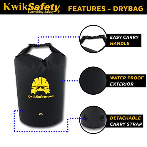 KwikSafety (Charlotte, NC) TSUNAMI Kit Vertical Lifeline Assembly 50 ft. Rope Snap hook Integrated Shock Absorber Dry Bag for Gear/Equipment | ANSI OSHA Personal roofing Fall Protection Arrest System by KwikSafety (Image #5)