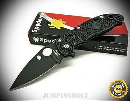 Black Manix 2 Black CTS BD1 Plain Edge Folding Pocket Knife
