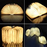 Wooden Folding Multi-Color LED Nightlight Art Book Lamp