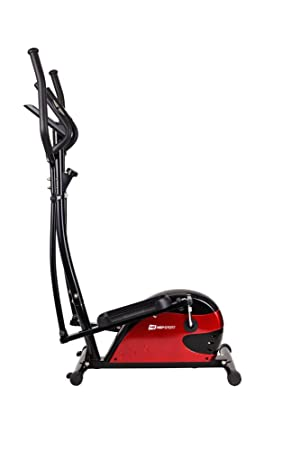 Hop-Sport Impact - Elíptica de fitness, color rojo, talla 117 x 65