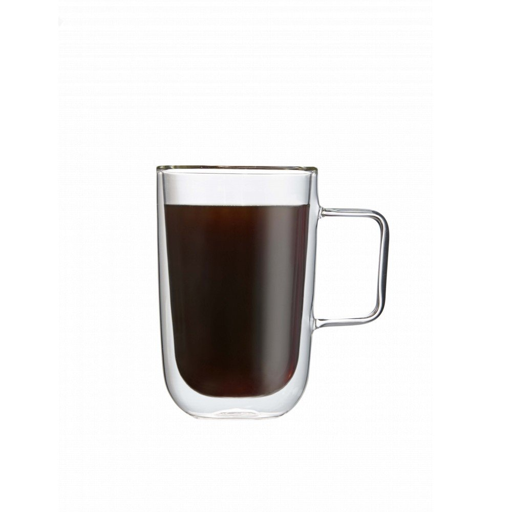 Double-Wall Glass Coffee Mug 325ml Set Of 2 Brilliant SYNCHKG033124