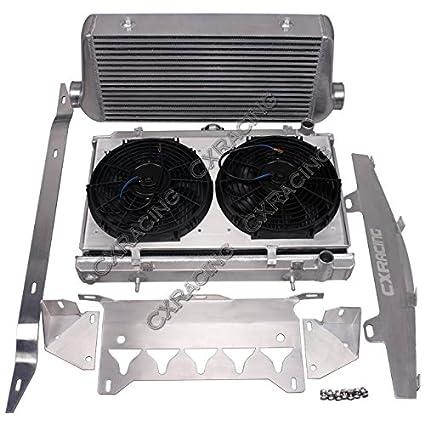 Amazon.com: CXRacing Intercooler Radiator Shroud Fan For Chevrolet Corvette C6 LS LS3 NA-T Turbo: Automotive