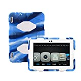 model number kindle fire - Winpartner Kindle Fire HDX 7 2013 Case - Heavy Duty Tough Armor Military Case Impact Resistant Bumper with Stand and Screen Cover Kid Proof Drop-proof Shockproof Dustproof Rainproof (Camo Blue/white)